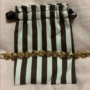 henri bendel on point flex bracelet gold crystal